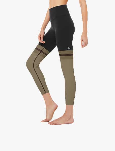 Alo Yoga Women's 7/8 Player Legging Black Olive Branch - Bonibi - Westlake Village, Los Angeles, Malibu, Calabasas