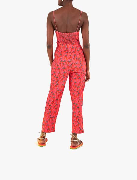 Farm Rio Red Pepper Jumpsuit Red Multi - Westlake Village,Thousand Oaks, Los Angeles, Malibu, Calabasas