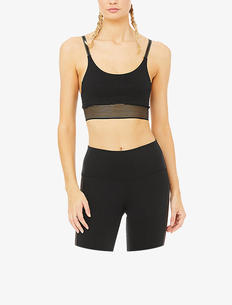 Alo Yoga Women's Line Up Bra Black - Westlake Village,Thousand Oaks, Los Angeles, Malibu, Calabasas