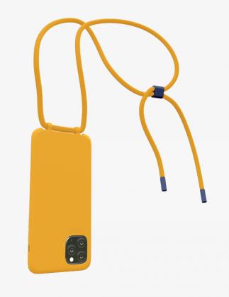 Bonibi Crossbody Phone Case - Tangerine/Tangerine/Cobalt Blue