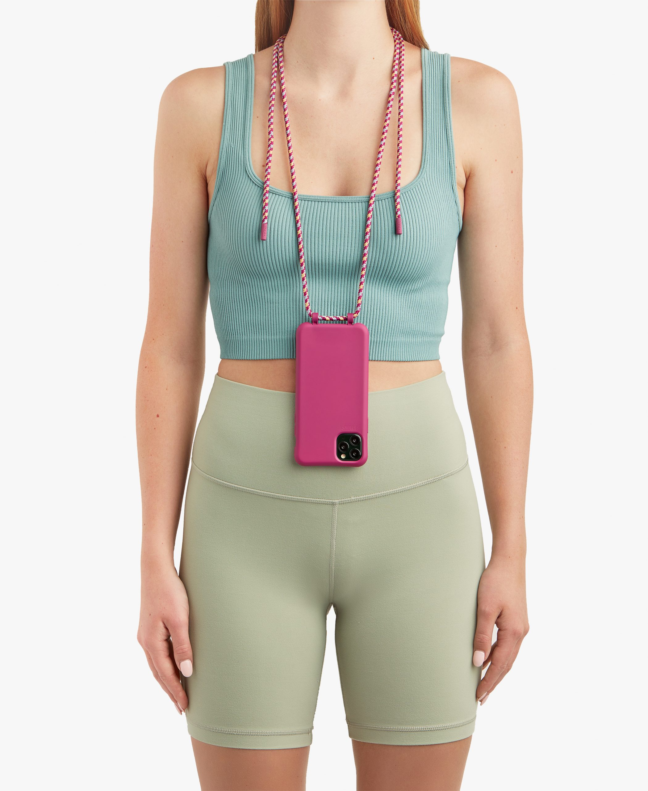 Bonibi-Crossbody-Phone-Case-iPhone-Raspberry-Case-Palm-Desert-Cord-Raspberry-Hardware-Necklace-Lanyard-Lifestyle-Phone-Case-With-Strap-Neck Holder-Card Holder-Tether-Carrier-Functional